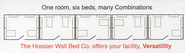 One room, six beds, many combinations!